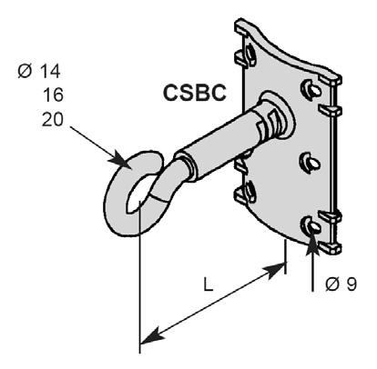 Крюк для опор и фасадов зданий CSBC 1407 и CSBC 1413