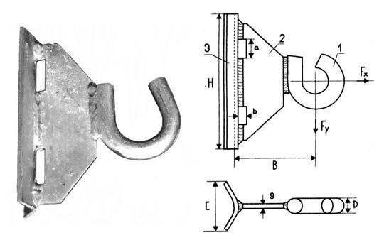 Крюк для круглых опор GHSO 16 и GHSO 20