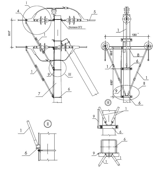 Схема установки разрядника