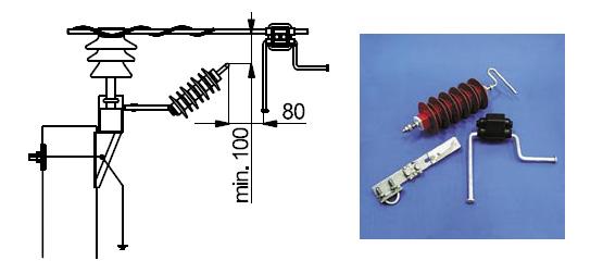 Схема монтажа ОПН SDI46: